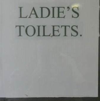 Ladies' toilets