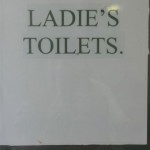 Ladies' toilets